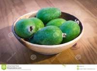 Bowl Of New Zealand Feijoa Fruit Stock Photo - Image: 69293412