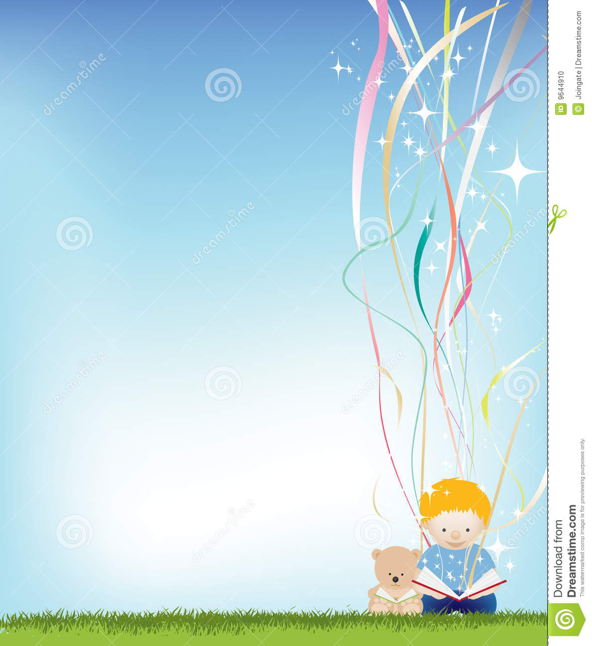 Wallpaper Cute Plain Boy Reading Background Stock Photo Image 9644910