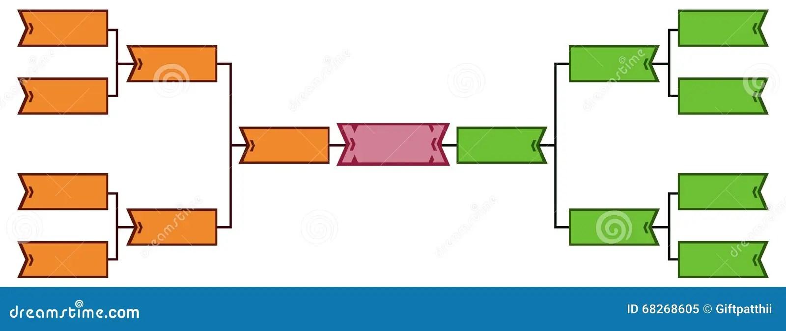 Bracket tournament 8 stock vector Illustration of baseball - 68268605