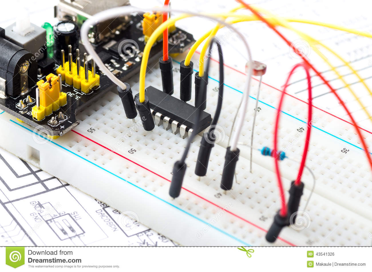 Breadboard Style Prototyping Board For Diy Electronics Auto 17pcs Kit Pcb Printed Circuit Prototype Stock Photo