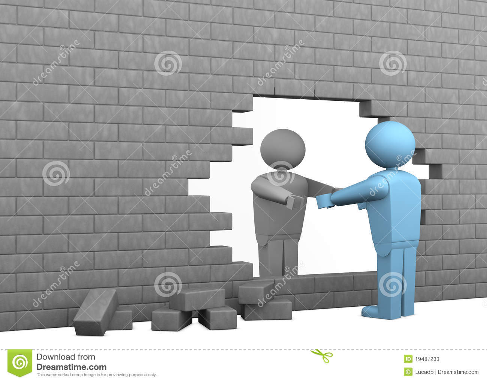 3d Brick Wallpaper For Walls Break Down Barriers Stock Illustration Illustration Of