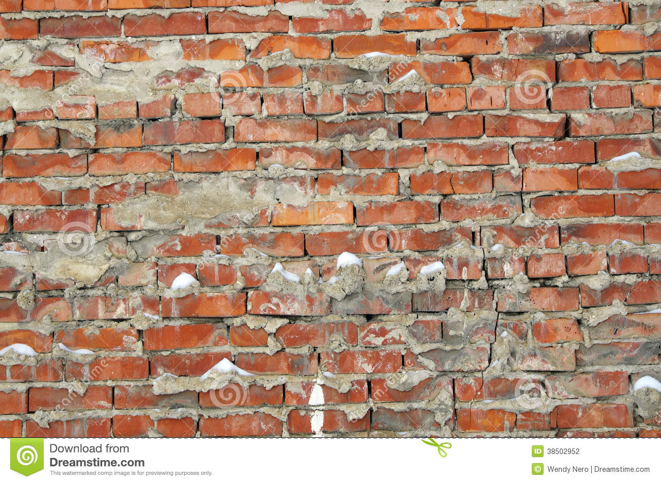 Distressed Brick Brick Wall Background Stock Photography Image 38502952