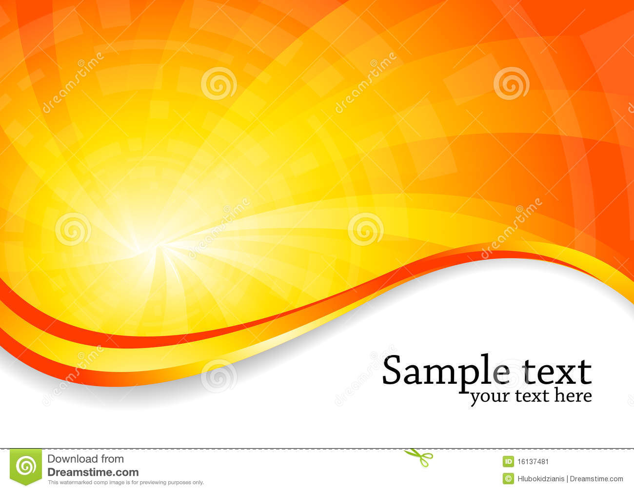 White Wave 3d Wallpaper Bright Background In Orange Color Stock Image Image