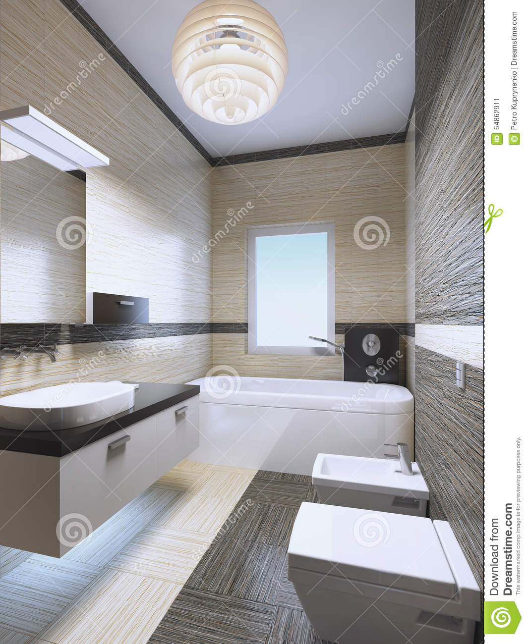 Extravagant Bathrooms Bright Expensive Bathroom With Neon Lights Stock Photo