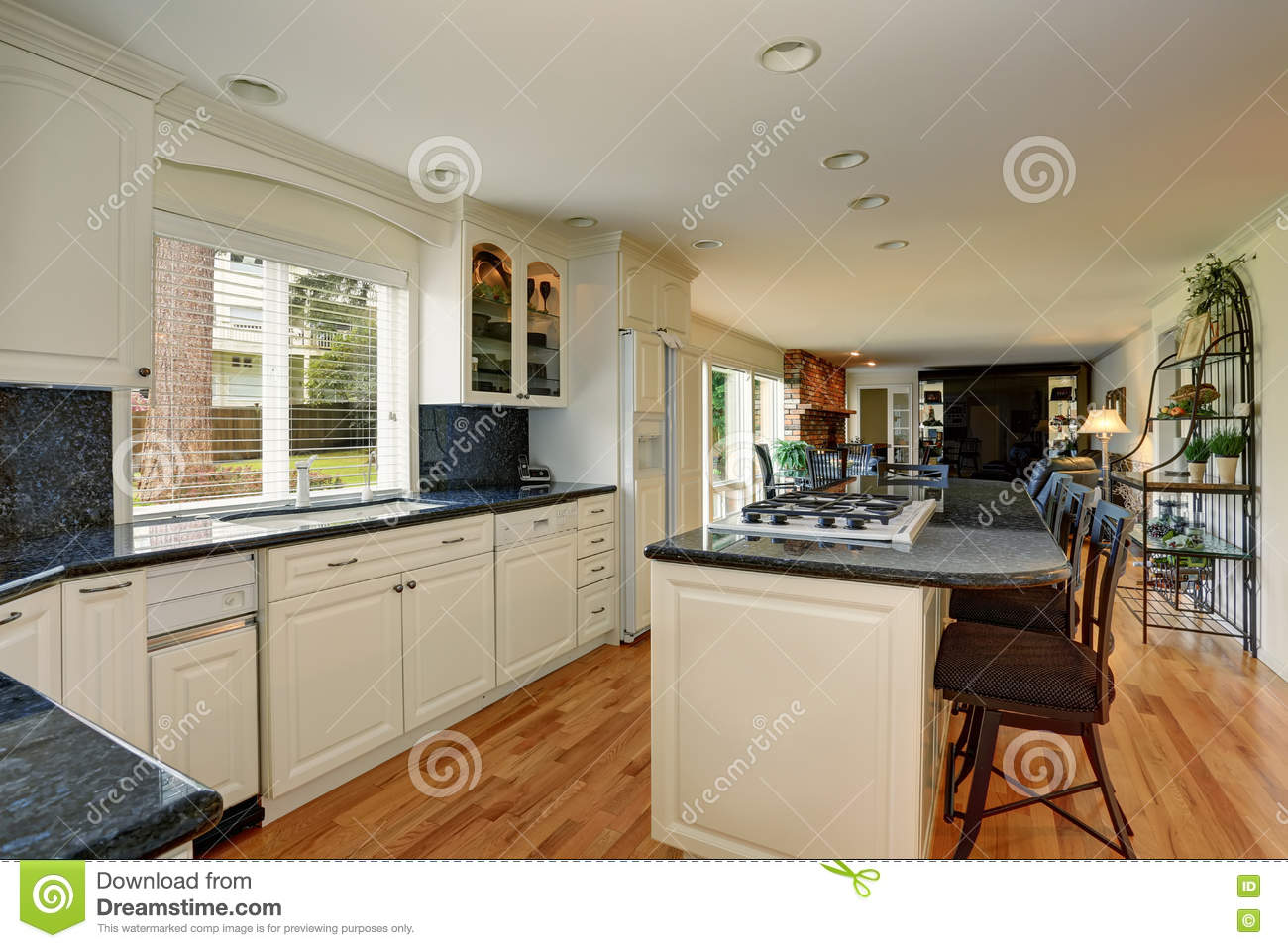 Bright Kitchen Cabinets Bright Kitchen Room Interior With White Cabinets And