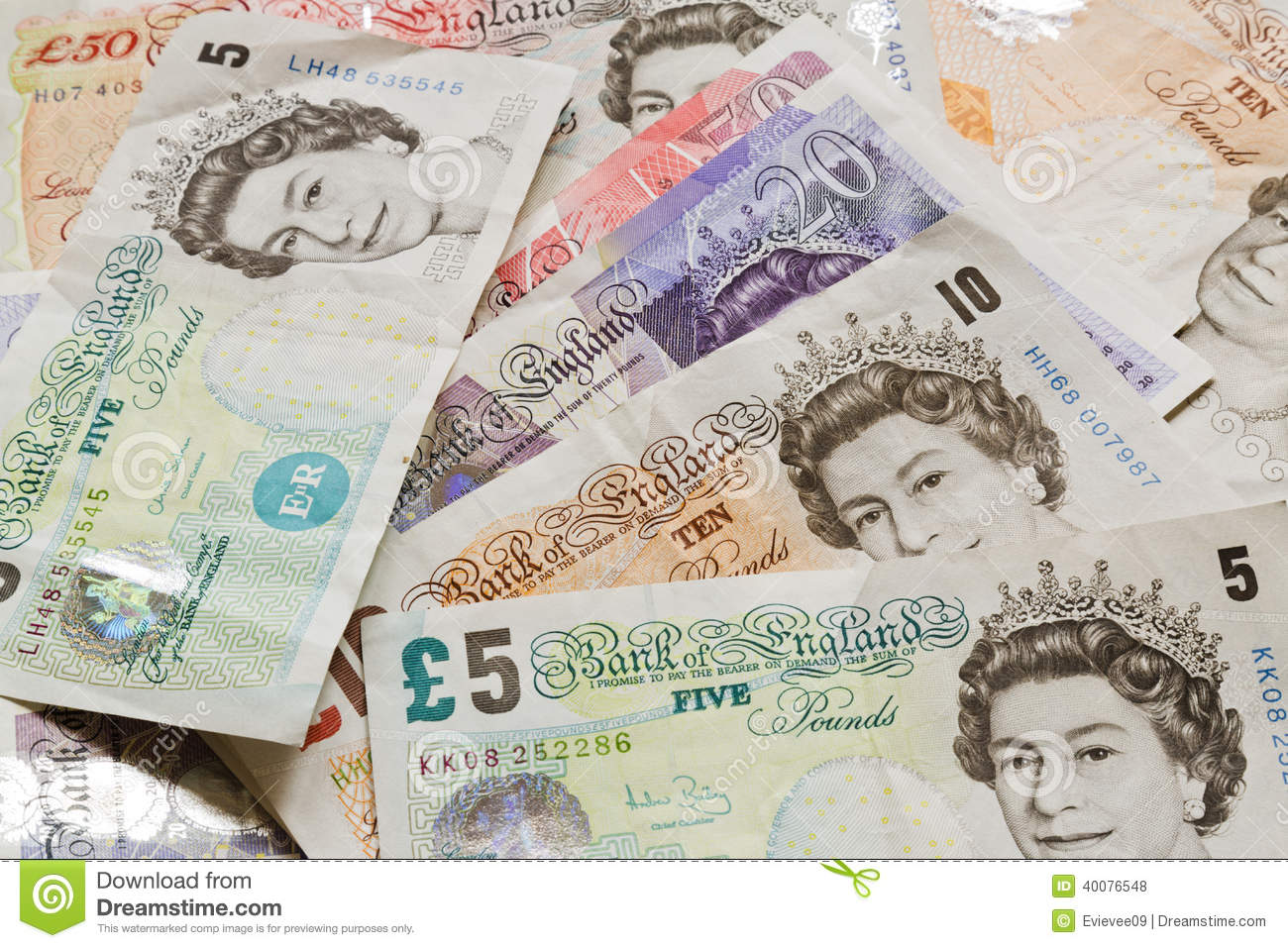 19 Libras A Euros British Money Notes Editorial Stock Photo Image Of