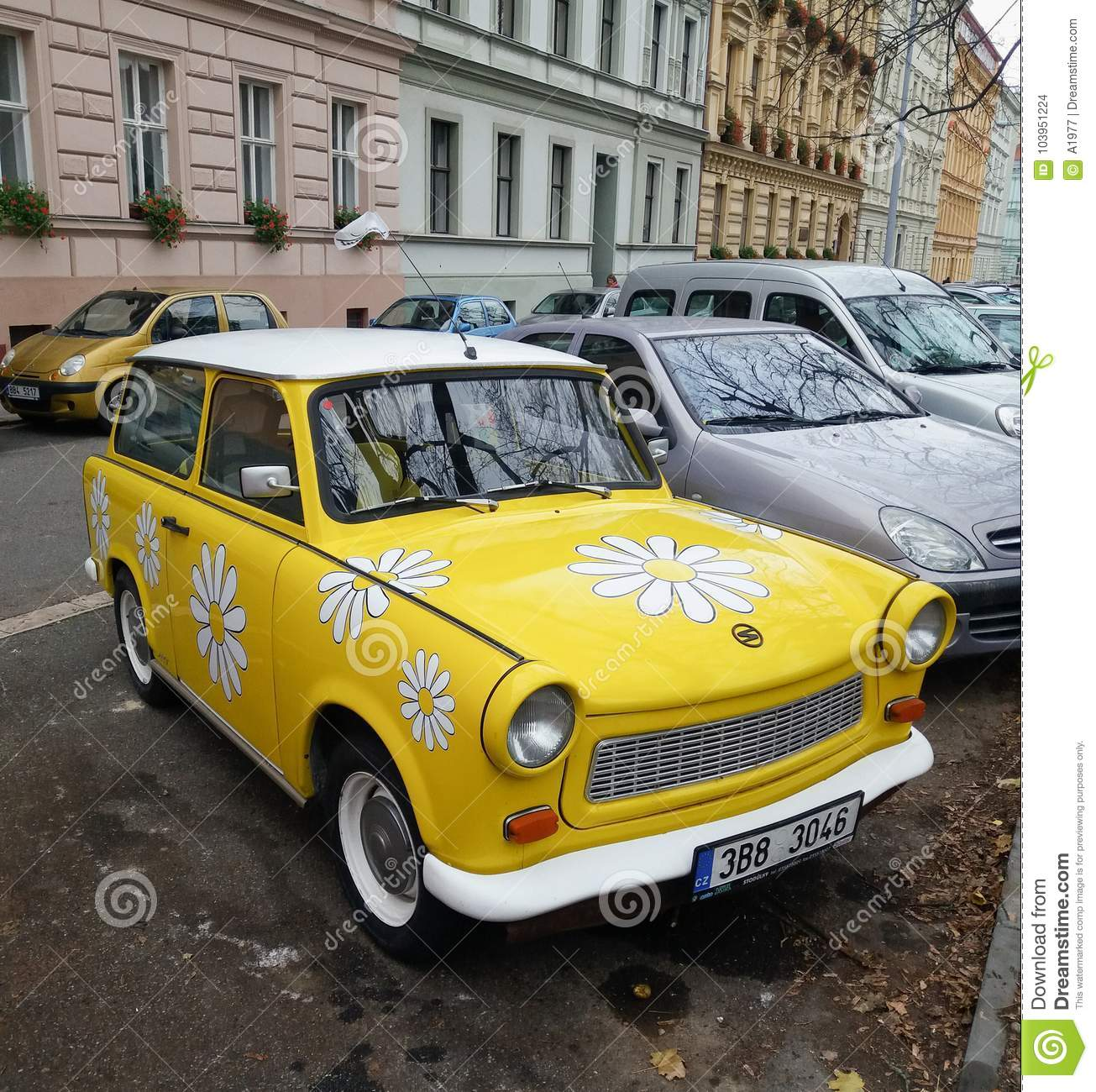 Trabant Clipart Flower Power Trabant Car Editorial Stock Image Image Of Power
