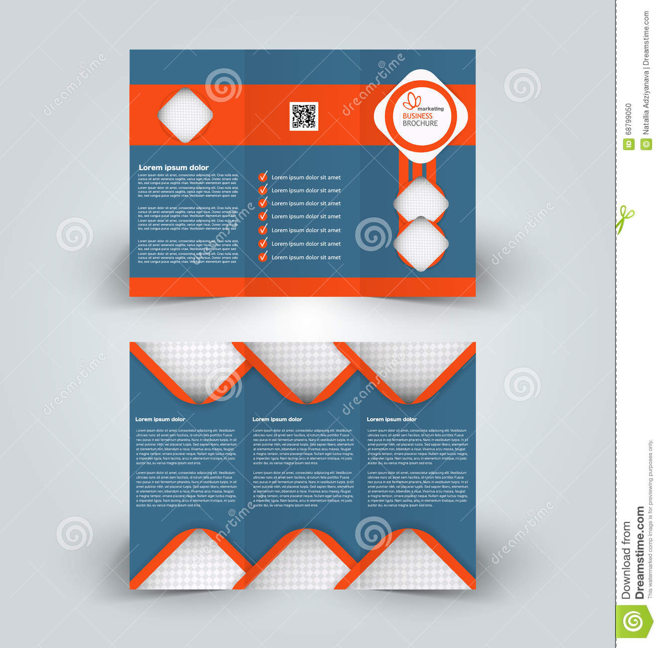C En A Vesten Brochure Mock Up Design Template For Business Education