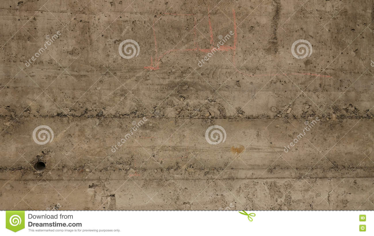 Beton Wall Broken Wall Stock Image Image Of Rough Retro Cement