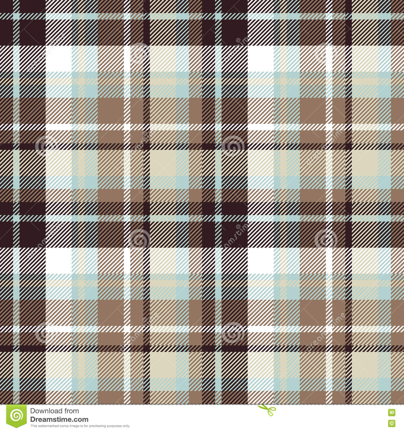 Brown Seamless Fabric Textures Brown Blue Seamless Check Fabric Texture Stock Vector