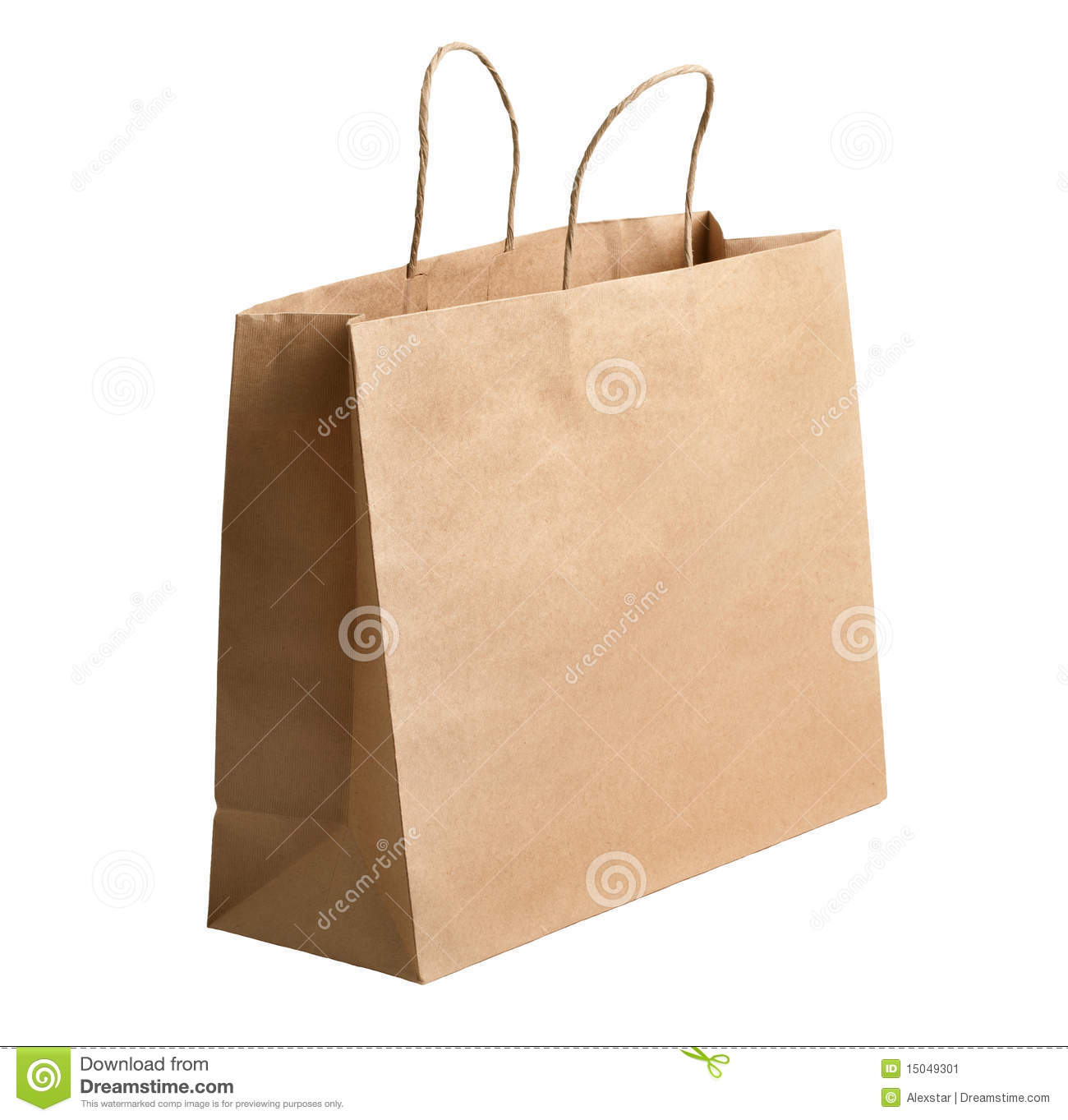 Brown Paper Bags With Handles Kmart Brown Paper Carrier Bag Stock Image Image 15049301
