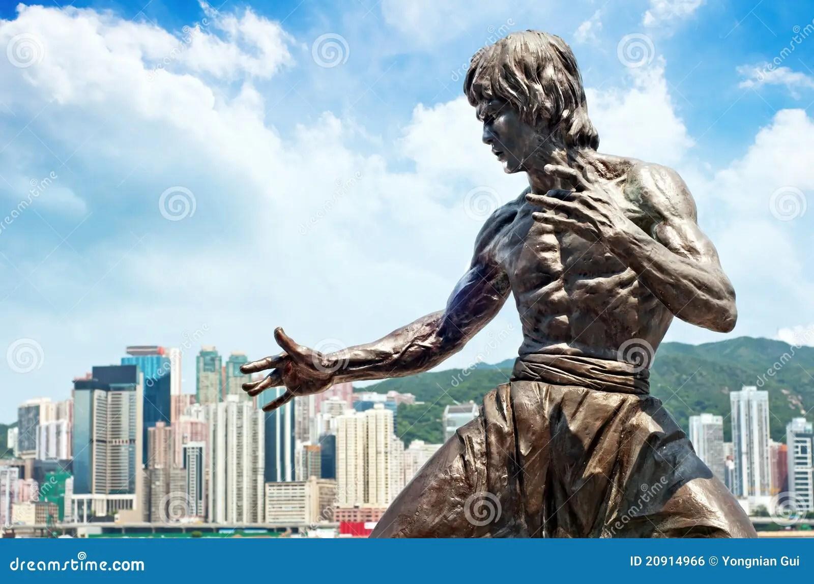 Skyscraper Wallpaper Hd Bruce Lee Statue Editorial Photo Image 20914966
