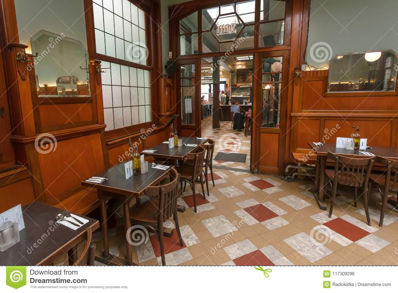 Interior Of Historical Artistic Cafe With Antique Furniture Windows Tables In Old Fashion Style Editorial Photo Image Of Drink Apartment 117309296