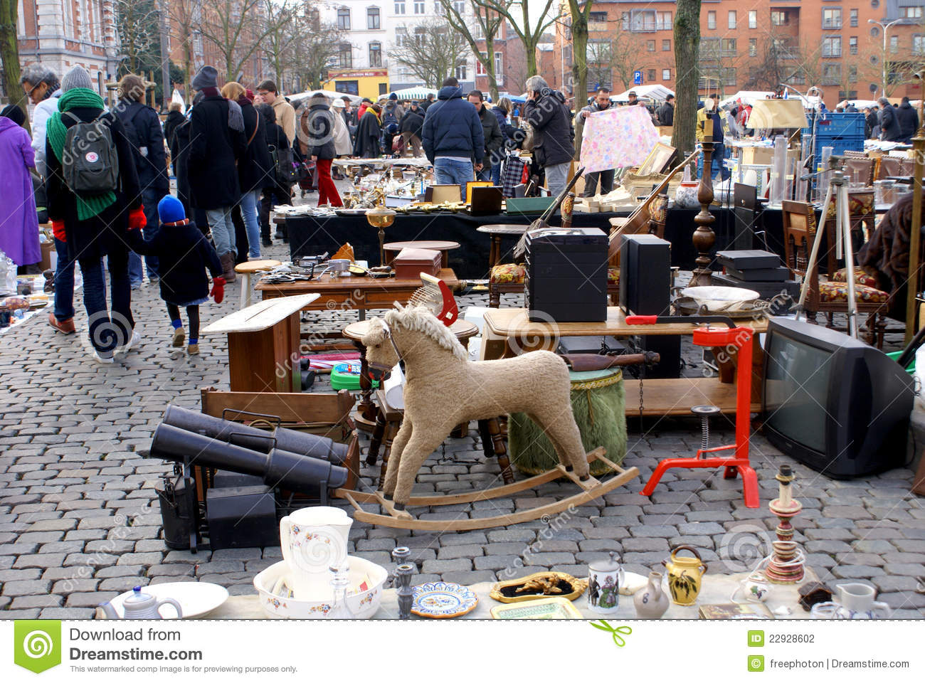 Bruxelles Antiques Brussels Flea Market Editorial Photography Image 22928602
