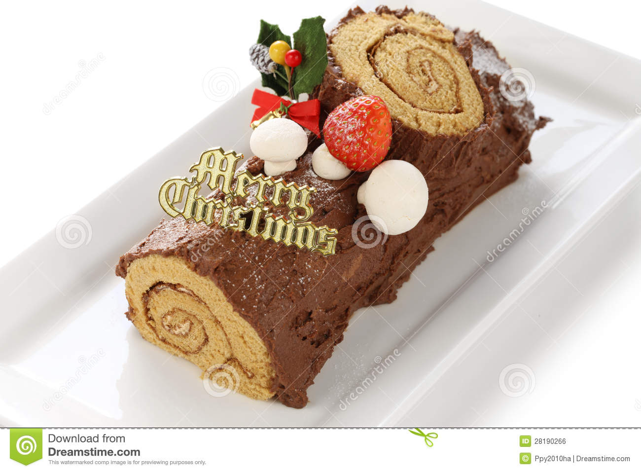 Decoration Buche De Noel Maison Buche De Noel Fait Maison Photo Stock Image Du Chocolat