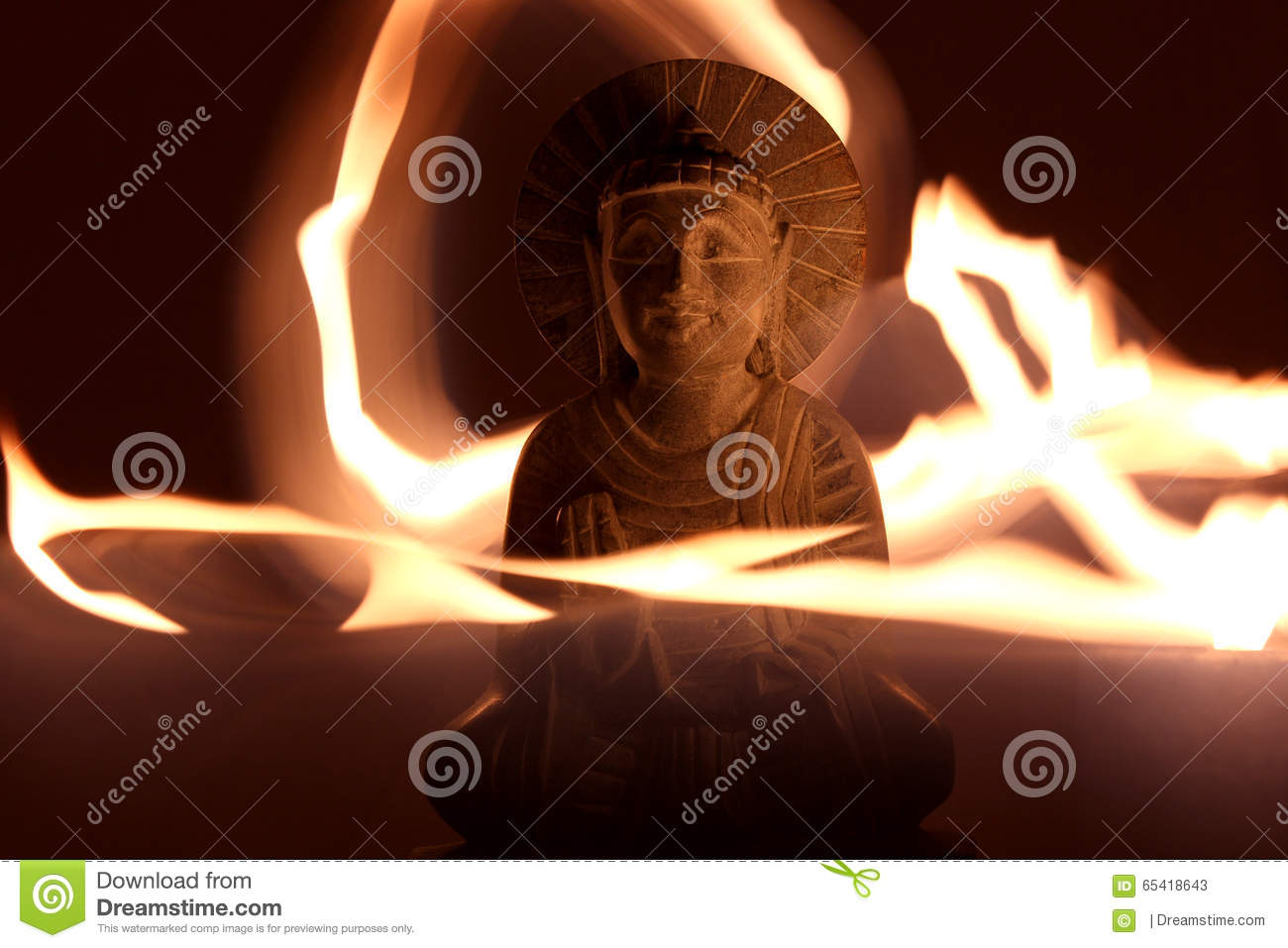 Candle Light Painting Buddha Light Painting Stock Image Image Of Light Eastern 65418643