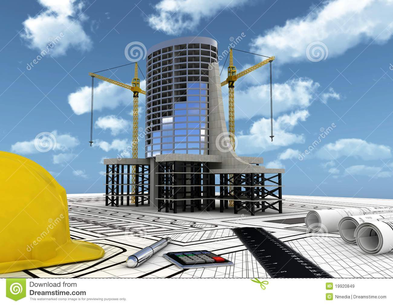 Building Construction Projects Building Construction Concept Royalty Free Stock Images