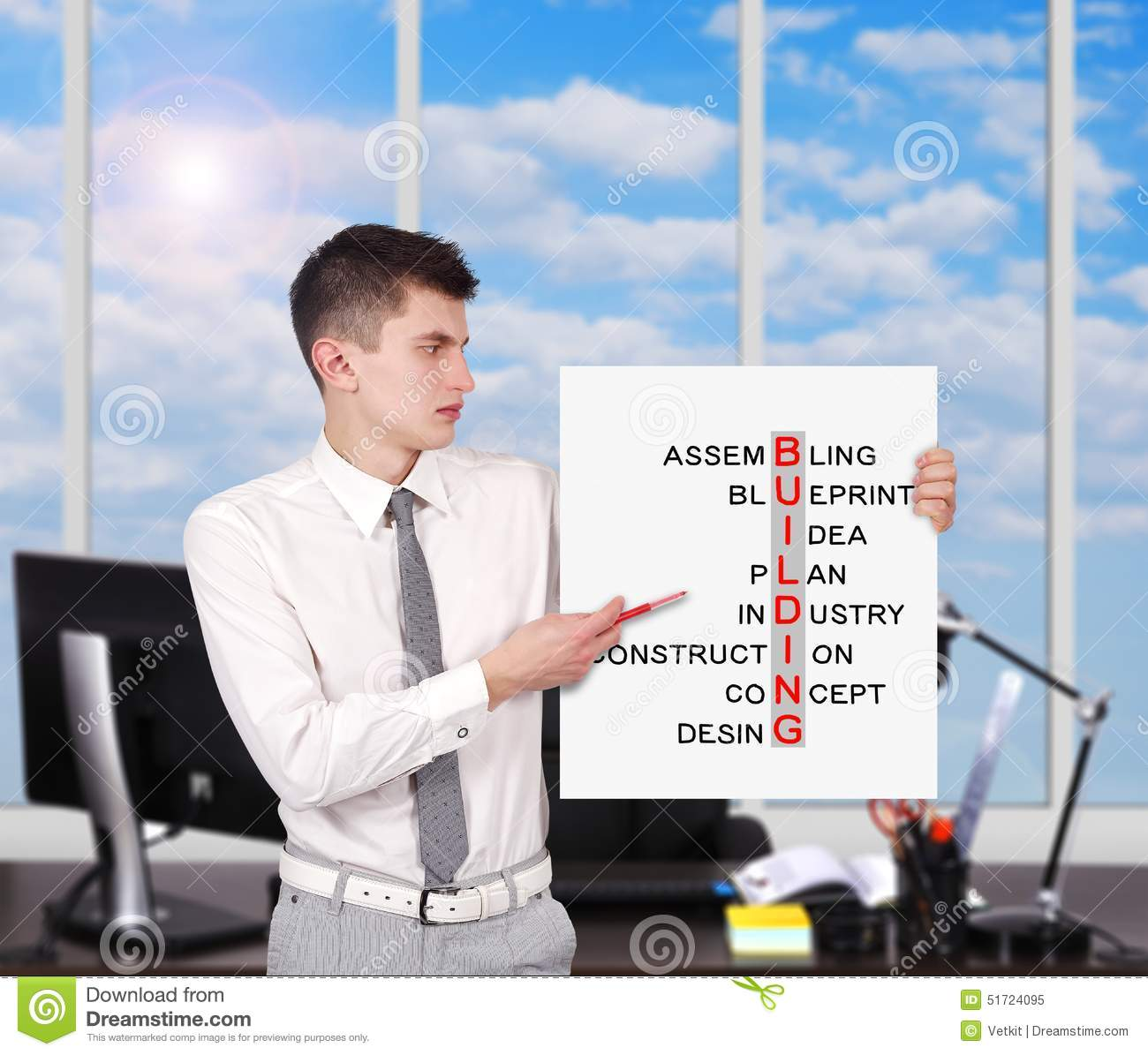 Placard Crossword Building Crossword Stock Image Image Of Placard Boardroom 51724095