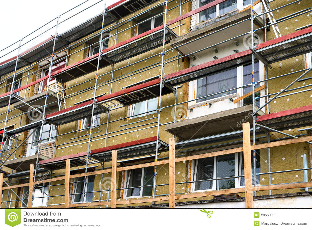 Renovation Facade Building Facade Renovation Stock Image Image Of Restoration