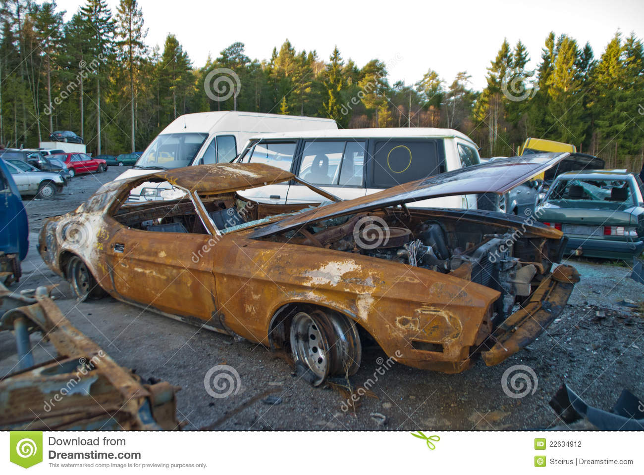 Classic Muscle Cars Hd Wallpapers Burnt Out And Rusty Car Stock Photography Image 22634912