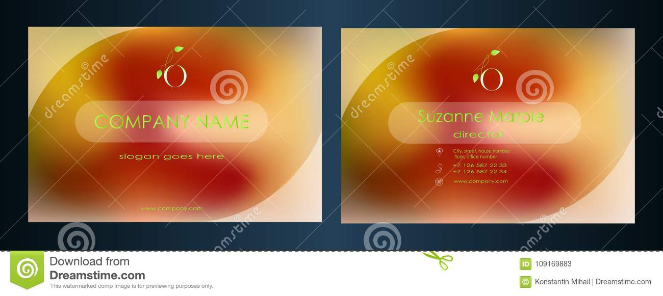 Business Card Design For The Company Visiting Card Creative Approach
