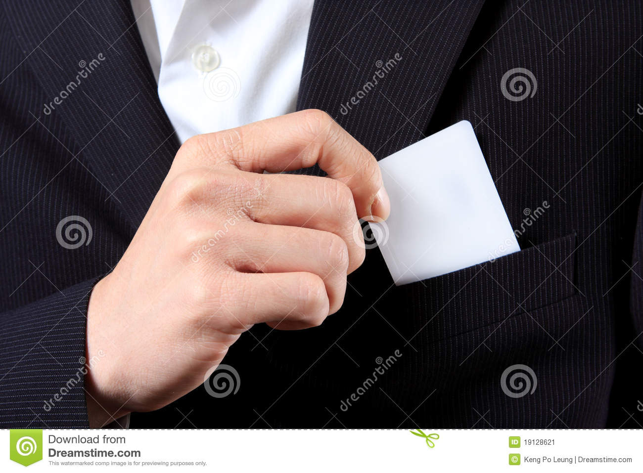 3d business man with blank visiting card stock photography