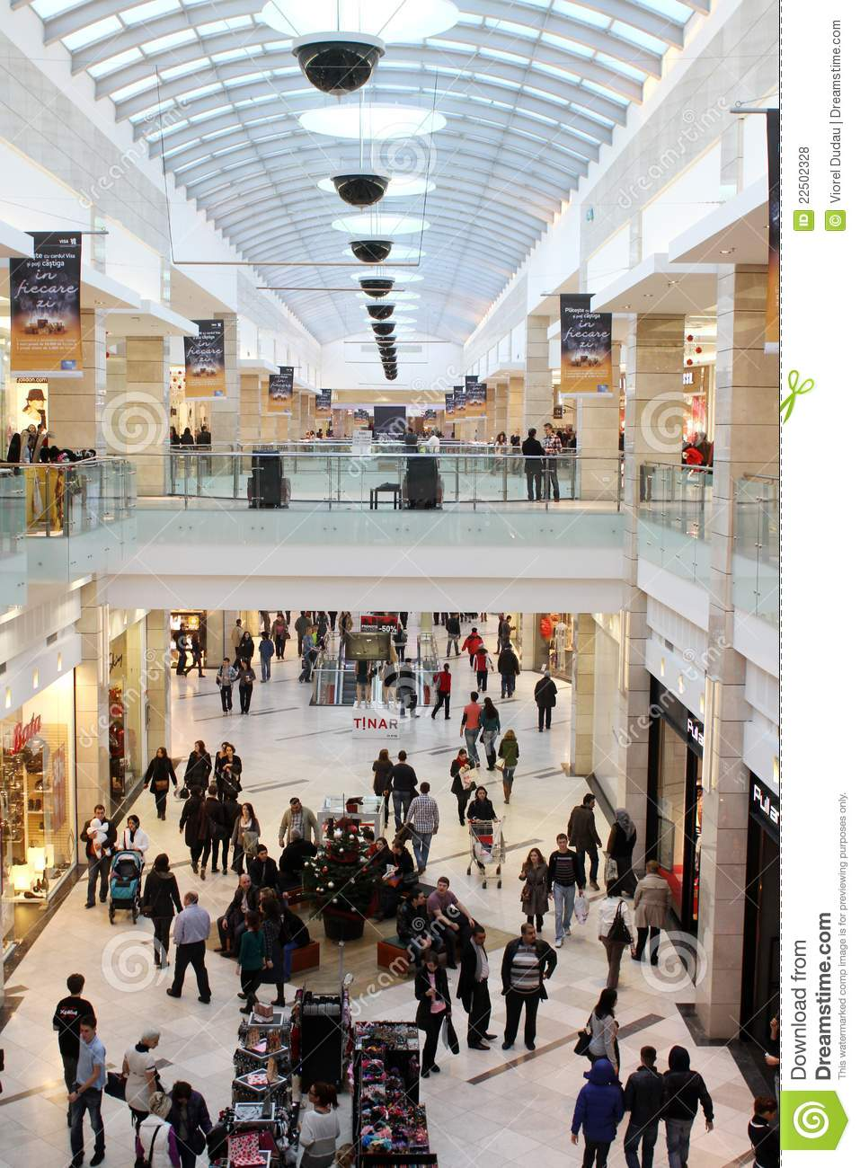 Black Friday Shopping Busy Mall Editorial Stock Photo. Image Of Indoor