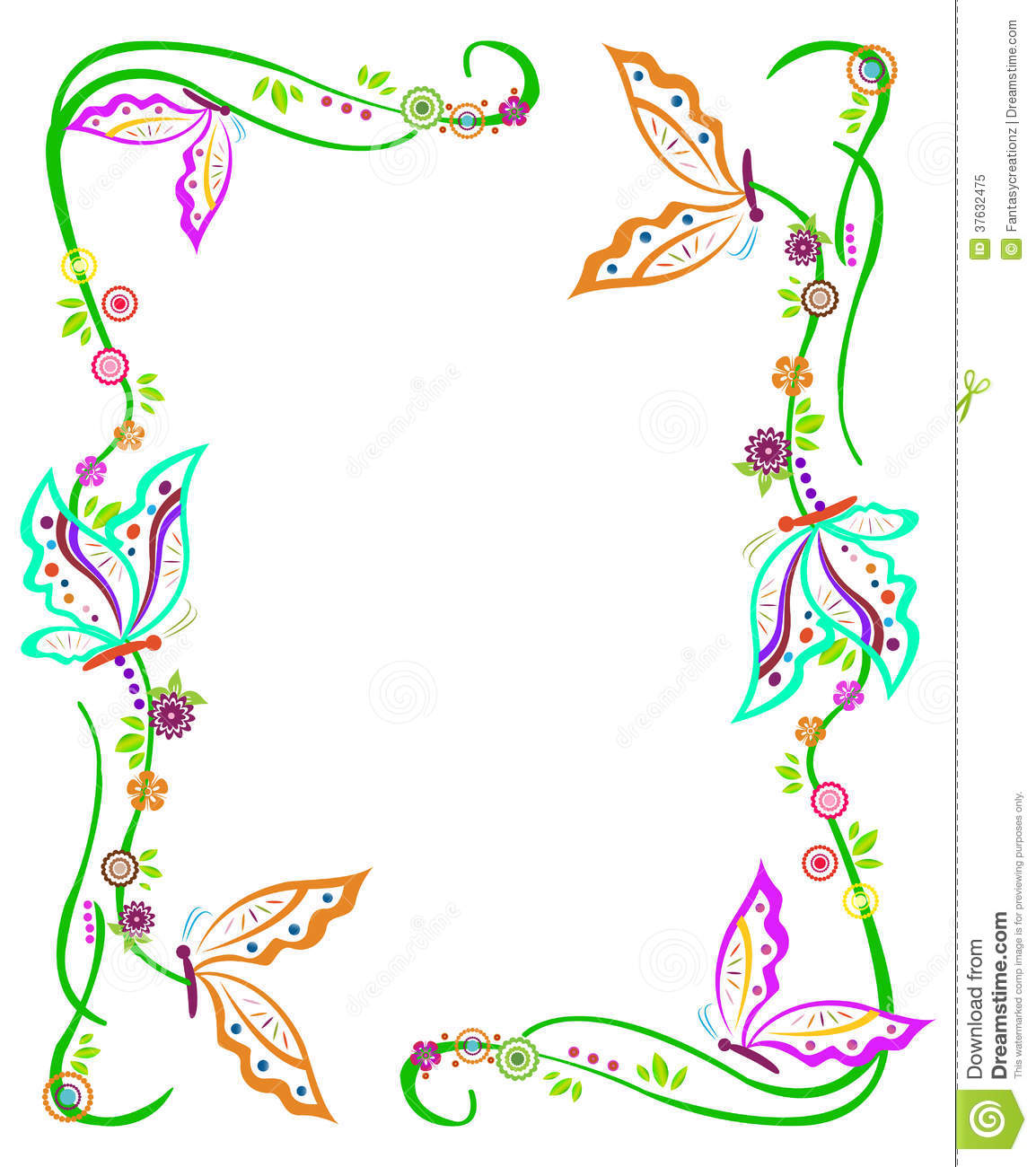 Green White Pink Girl Scout Wallpaper Butterfly Border Royalty Free Stock Photo Image 37632475