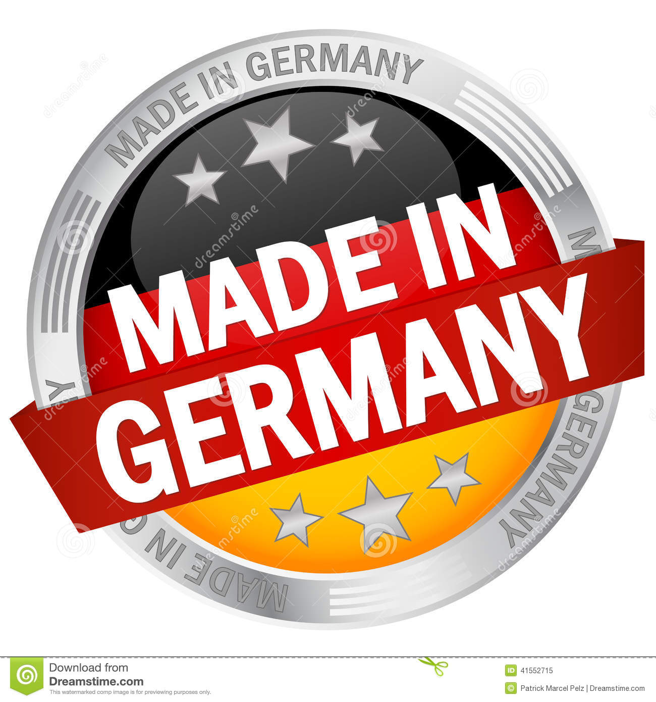 Button With Banner Made In Germany Stock Vector