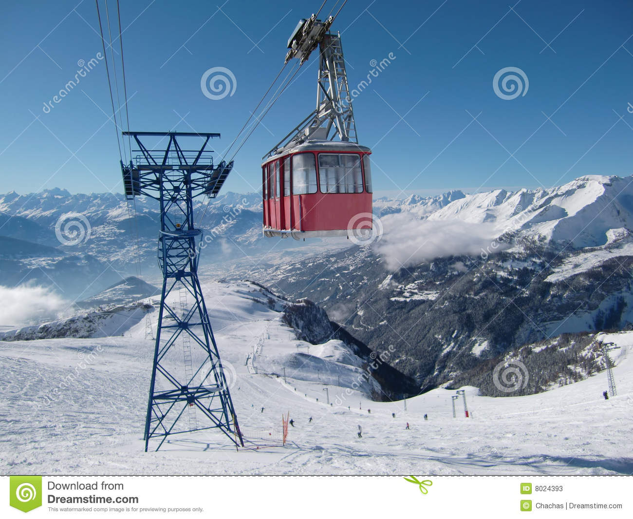 3d Moving Animation Wallpaper Download Cable Car In Swiss Alps Stock Photos Image 8024393