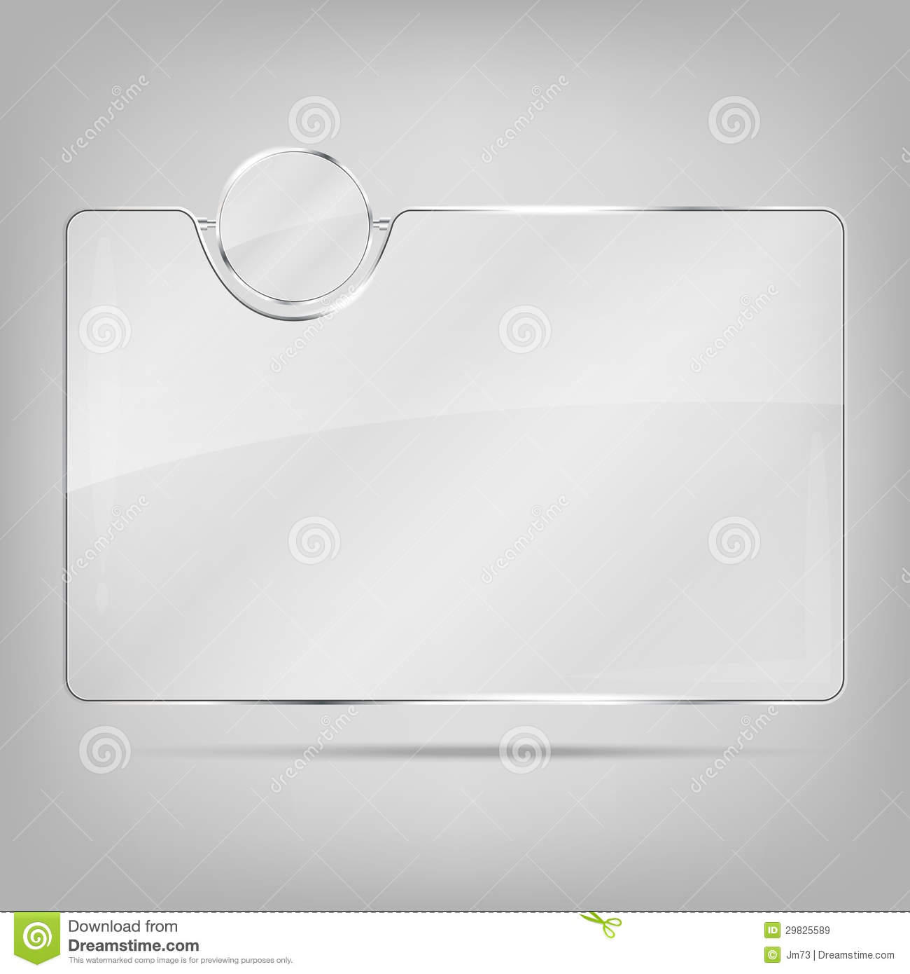 Cadre Photo Verre Transparent Cadre En Verre Transparent Illustration De Vecteur Illustration