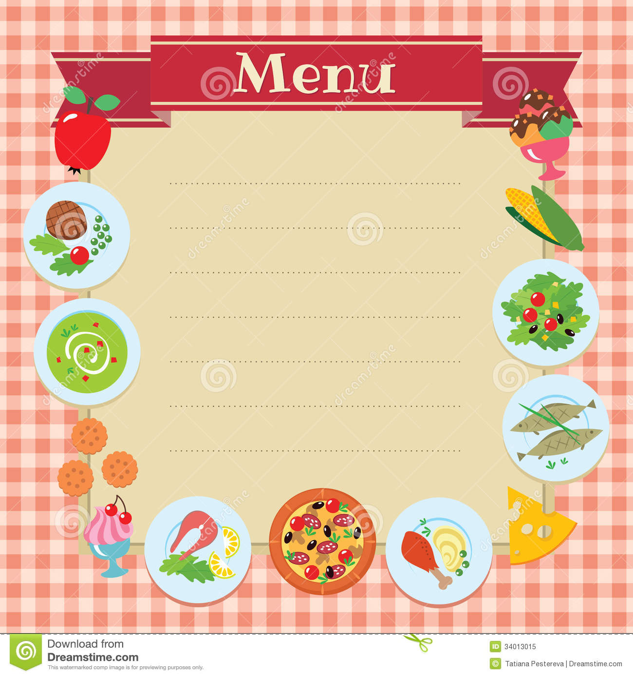 Lunch Menu Template make voucher – Lunch Menu Template