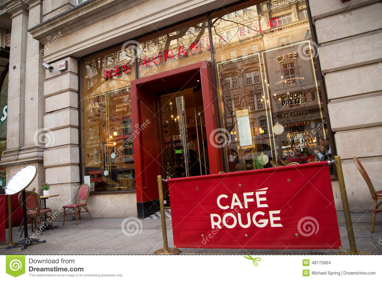 Image Café Cafe Rouge Editorial Stock Image Image 48175894
