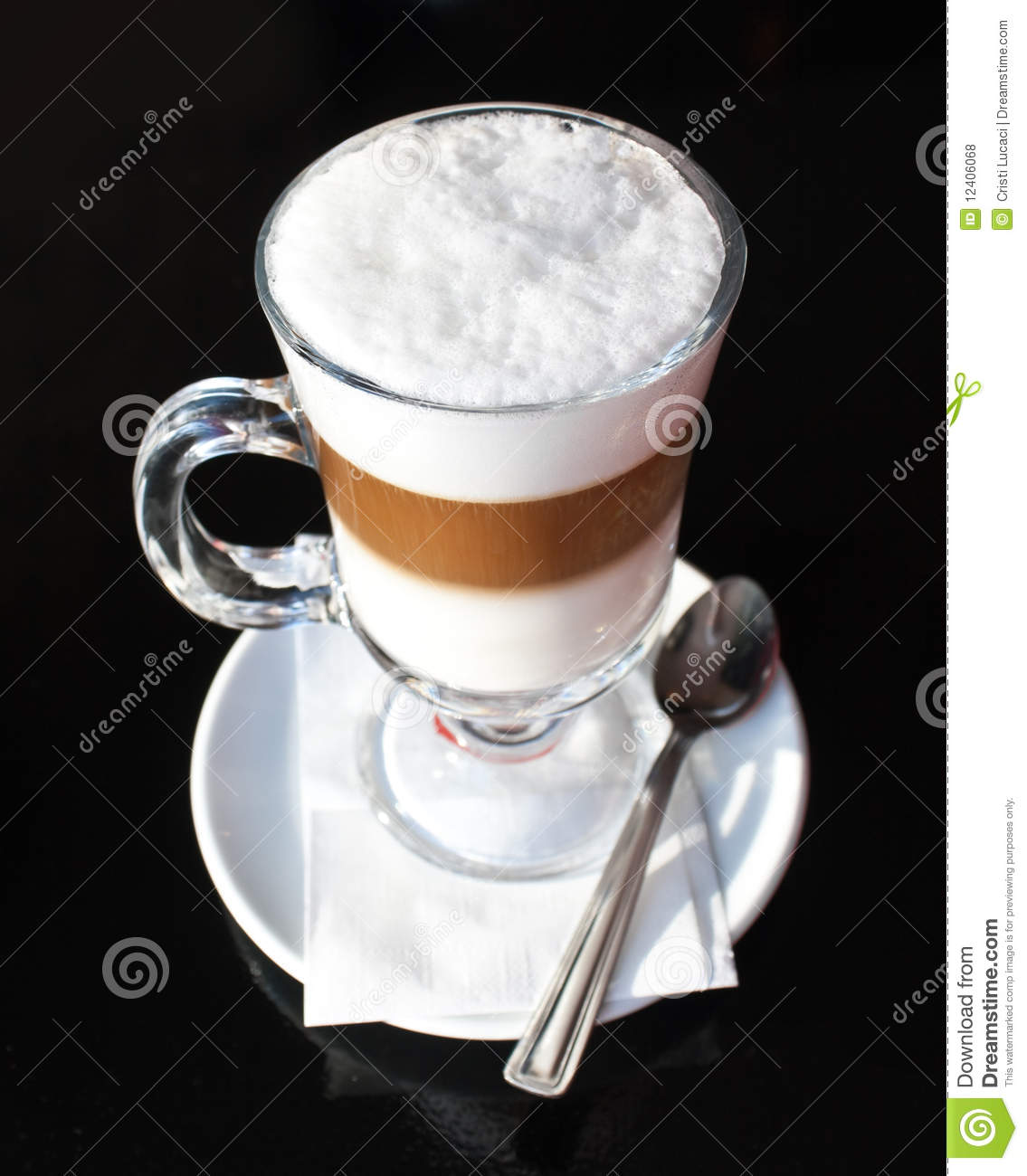 Caffe Latte Caffe Latte Stock Photo Image Of Food Coffee Macchiato 12406068