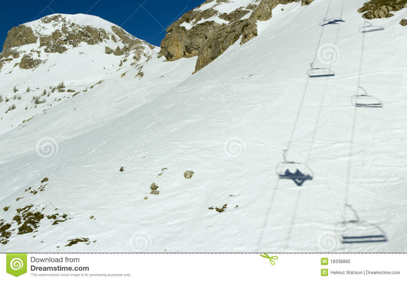 Ro K Serre Cairlift Shadows 1 Serre Chevalier France Stock Photo Image