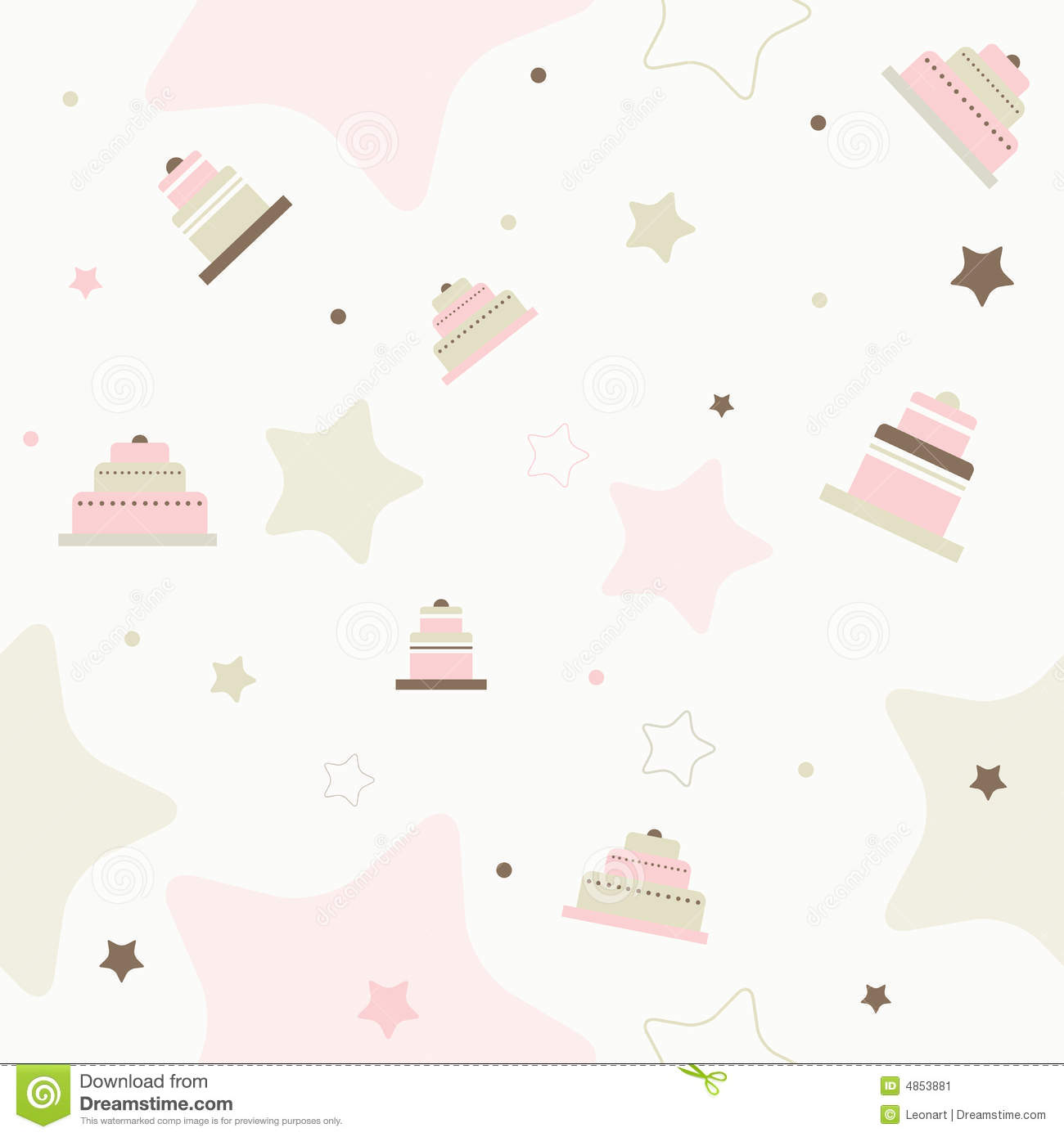 Bakery Wallpaper Hd Cake Seamless Vector Pattern Stock Vector Image 4853881