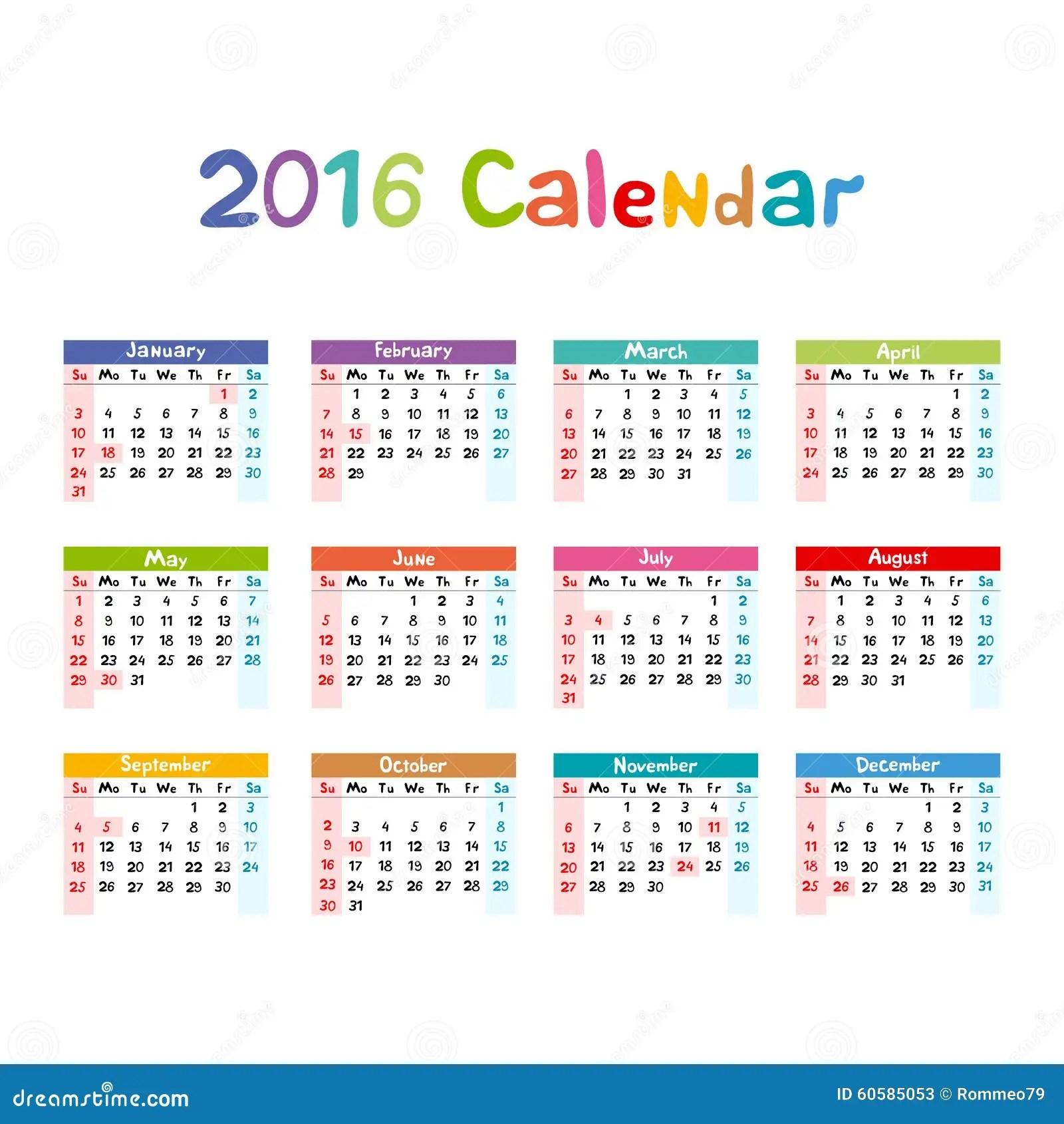 Free Printable November 2017 Monthly Planner 2016 Calendar Illustration Vector Kids Hand Made Stock