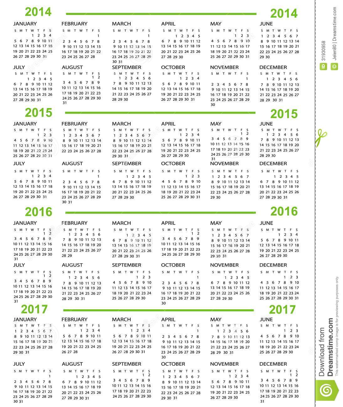 Gregorian Calendar 2014 And 2015 Year 2014 Calendar Time And Date Calendar New Year 2014 2015 2016 2017 Royalty Free Stock