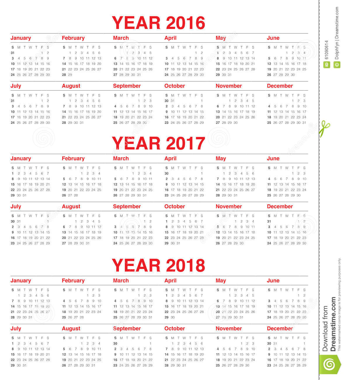 Calendar For November 2017 United States Time And Date Calendar 2016 2017 2018 Stock Vector Image 61090614