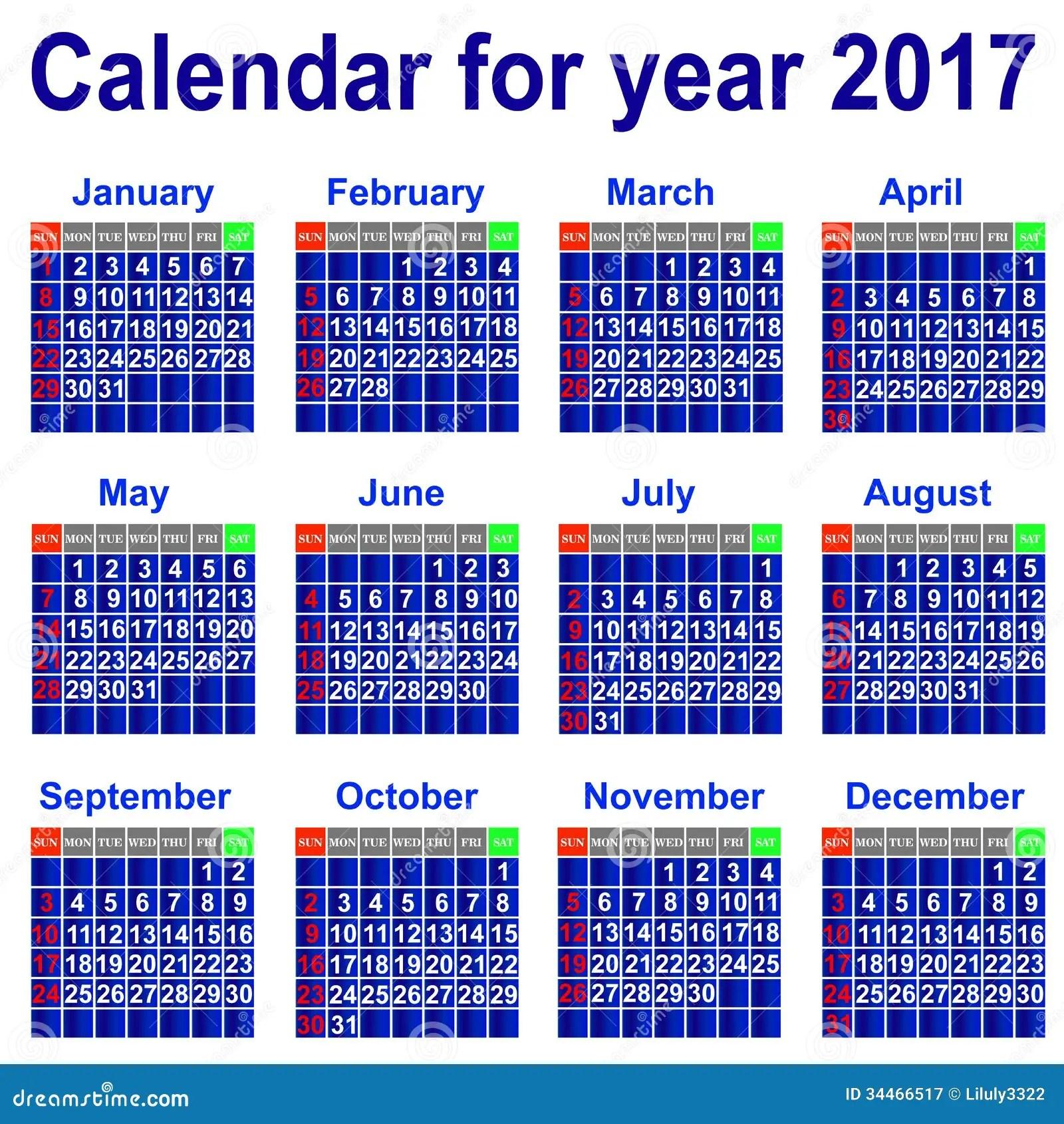 2017 Calendar Diary 2017 Year