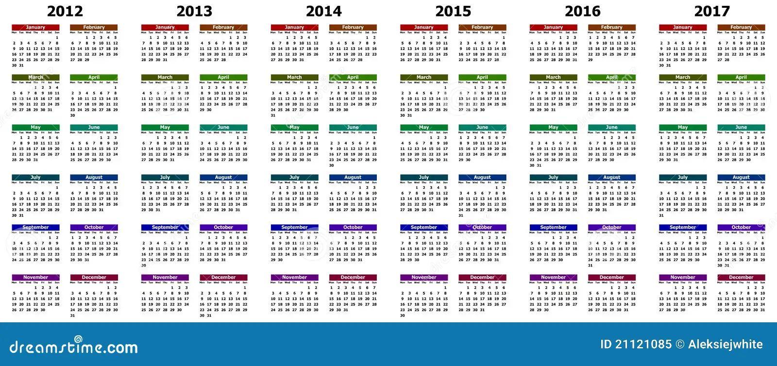 calendar years