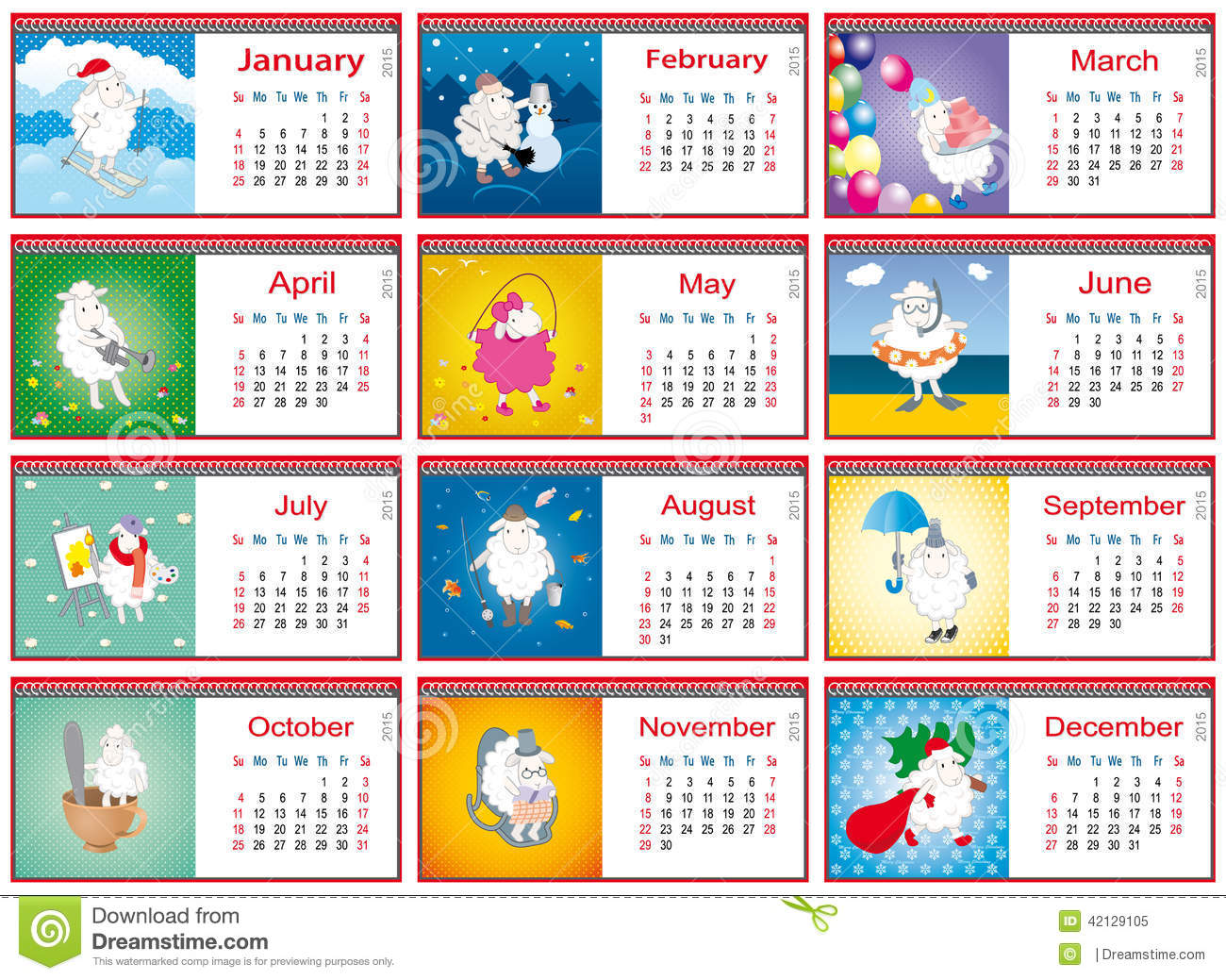 Meses En Portugues Calendars For Each Month In 2015 With Active Sheep Stock