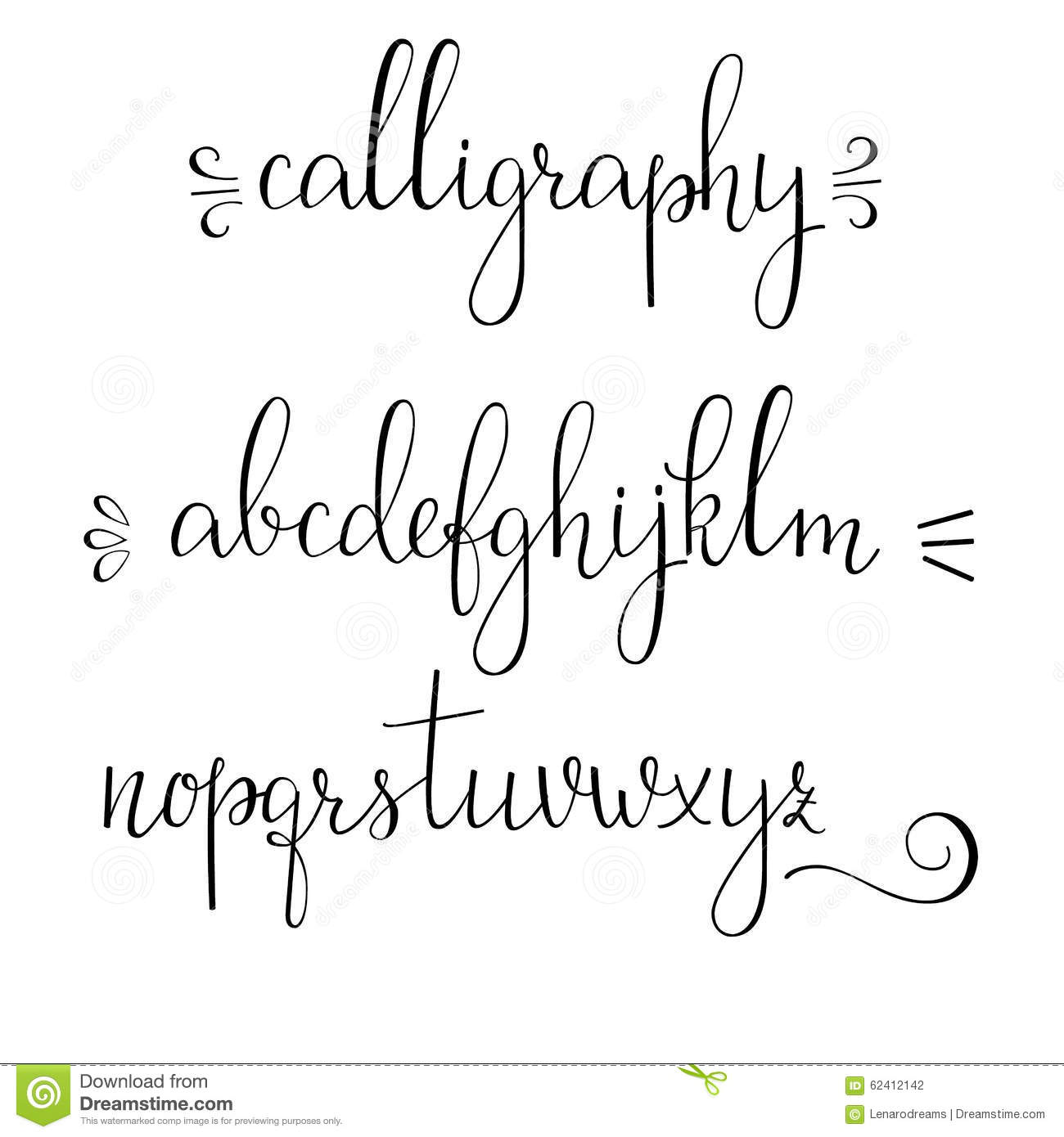 Calligraphy Font Modern Free Calligraphy Cursive Font Stock Illustration Illustration Of
