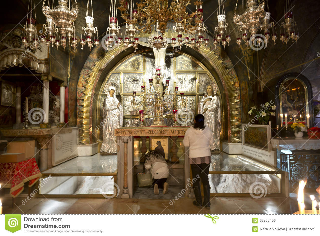 Talha 3d Wallpaper The Calvary And The Greek Altar In The Church Of The Holy