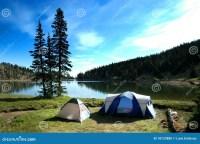 Camping Tents Near Lake Stock Photo - Image: 18723880