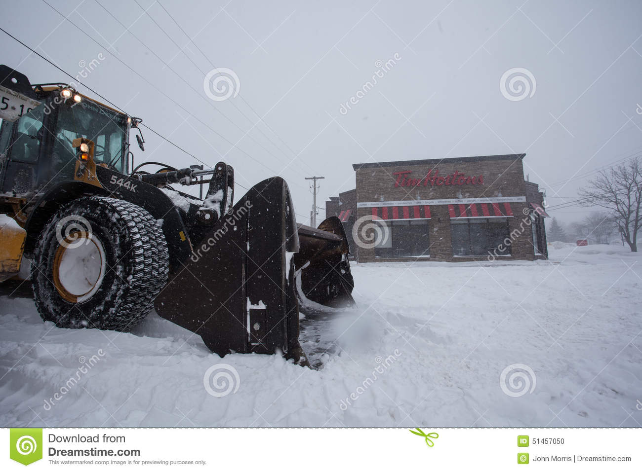 Canadian Snow Plow Canadian Snow Plow Editorial Image Image 51457050