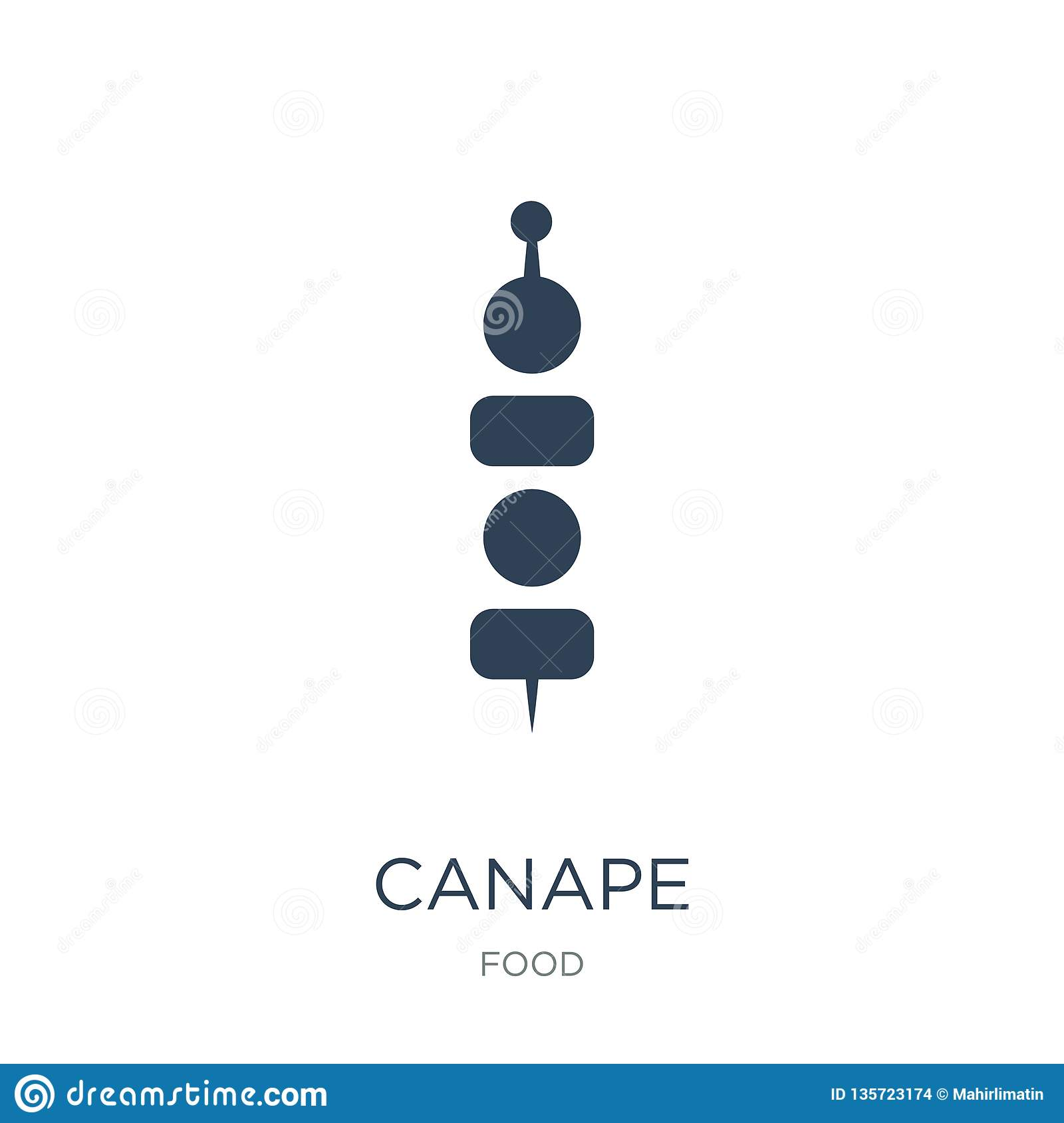 Site De Canapé Canape Icon In Trendy Design Style Canape Icon Isolated On White