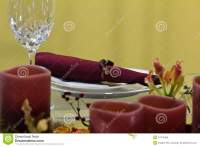 Candle Light Dinner Table Setting Stock Photo - Image ...