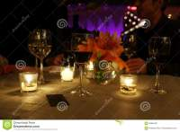 CANDLE LIGHT DINNER TABLE stock image. Image of wine ...