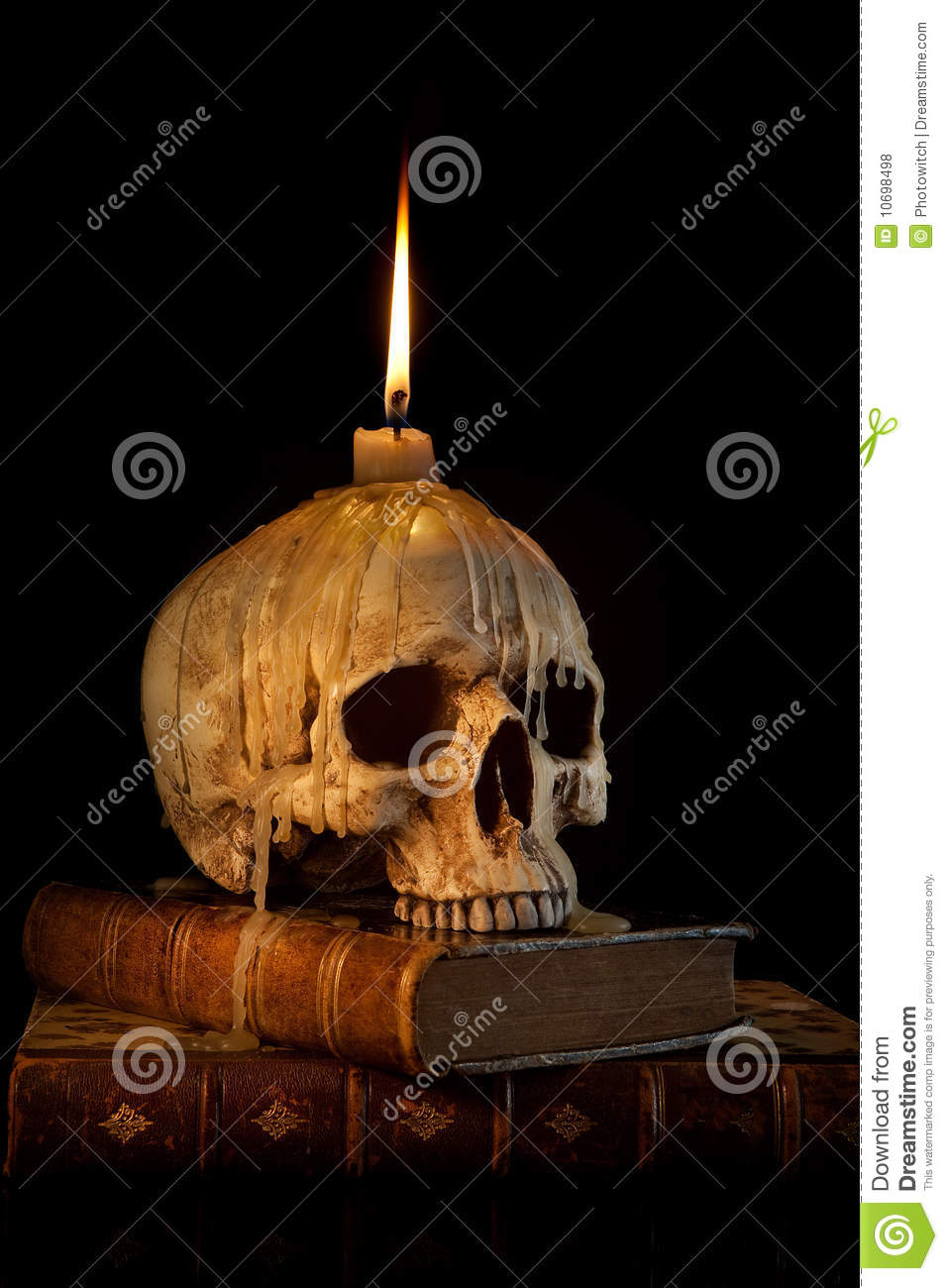 Free 3d Skull Wallpaper Candle On Skull 1 Royalty Free Stock Photos Image 10698498
